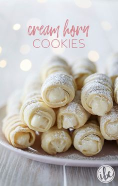 How to make classic Cream Horn Cookies (Lady Locks)   Inspired by Charm
