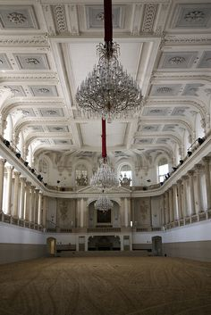 The hall at the Spanish Riding school in Vienna