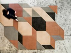 Mutina collections designed by Inga Sempè and Patricia Urquiola #geometric #floor #tiles #design