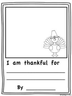 Thanksgiving+Writing+FREEBIE  Includes+one+writing+sheet:++  I+am+thankful+for+__________.  Thank+you+for+stopping+by+and+don't+forget+to+follow+my+store+for+more+freebies!++