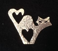 Image of Valentines Cat Brooch