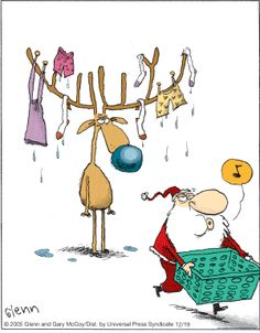 The Flying McCoys by Glenn McCoy and Gary McCoy for December 2005 Die Flying McCoys von Glenn und Gary McCoy ~ Christmas Humor ~ Santa & his Reindeer
