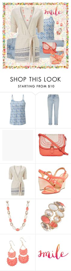 """Smile    Contest Entry     #cutecardigan   #springlayers"" by kbarkstyle ❤ liked on Polyvore featuring ANNIE, Uniqlo, Madewell, Graham & Brown, T-shirt & Jeans, Miss Selfridge, Kate Spade, Anne Klein, cutecardigan and springlayers"