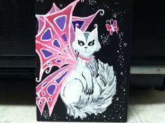 Princess Kitty Fairy - acrylic By: Lauren Tornetta