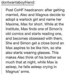Post COHF headcannon