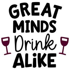 Silhouette Design Store: great minds drink alike