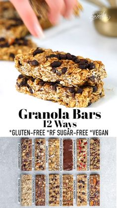 Healthy Granola Bars, Healthy Bars, Healthy Sweets, Healthy Baking, Healthy Protein Breakfast Ideas, Granola Bar Recipes, Healthy Cereal Bars, Healthy Muesli Bar Recipe, Dairy Free Granola Bars