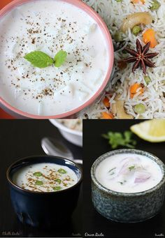 Raita recipes – Raita is a yogurt based side dish usually made to accompany biryani, pulao or kababs. Most often it is made with fresh raw vegetables, mild spice powders and herbs. There are also varieties made using cooked veggies and even fruits. A raita is generally made to tone down the heat of the …