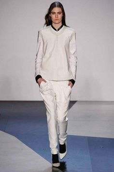 Helmut Lang | white shoes/everything, black accents