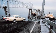 Skywayaccident - Sunshine Skyway Bridge - Photo by the St. Petersburg times