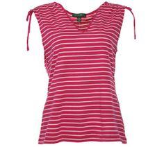 Lauren Ralph Lauren Women's Striped V-Neck Shirt