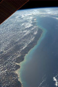 """Northeast coast of Brazil.  Taken October 11, 2013.  KN from space."" ~Karen Nyberg"
