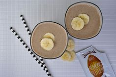 Protein-packed Maple Almond Banana Smoothie to get you out the door!