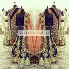 How regal would you look in this ensemble for your wedding day? Check out this gorgeous Lengha from @wellgroomedinc! Ready made and custom made wedding day ensembles! #bride #groom #southasian #indianwedding #lengha #indianweddingclothes http://www.indianweddingsite.com/vendor/wellgroomed-designs-inc/