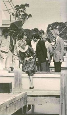 30 October 1985 - Princess Diana At Rotamah Island // Rotamah Island, or Gellung-warl in the Kurnai language, is a river island in The Lakes National Park, in the Gippsland Lakes of Victoria, Australia, about 6 km from Paynesville, from which it's accessible by boat.