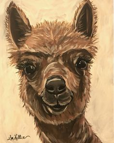 Alpaca art, alpaca decor. Alpaca print from original Alpaca on canvas painting. by HippieHoundUSA on Etsy