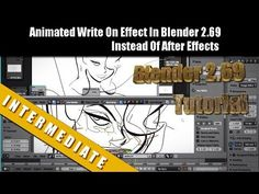 Animated Write On Effect In Blender 2.69 Instead Of After Effects (+play...