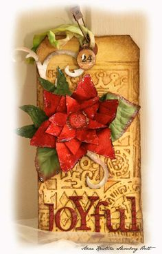tim holtz christmas tags | Anne's paper fun: Tim Holtz : 12 tags of Christmas...day 7