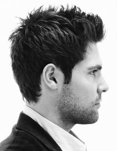 This textured men's style is great with thick hair. For men with thinner hair, a more full look can be achieved by working some Kerastase Homme Densifying Modelling Paste through the hair to thicken and texturise.
