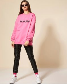 #choosepink Love Me Forever, Attitude, Graphic Sweatshirt, Woman, Sweatshirts, Sweaters, Pink, Clothes, Fashion