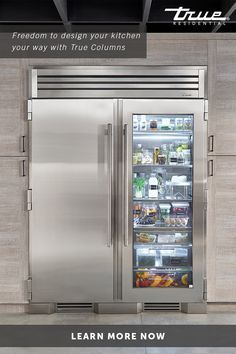Paired with a 30 Freezer the 30 Glass Door Refrigerator Column means complete control and complete freedom for homeowners and designers alike. Pictured with Joining Kit. Home Decor Kitchen, New Kitchen, 1970s Kitchen, Condo Kitchen, Kitchen Ideas, Kitchen Island, Home Interior, Interior Design Living Room, Flat Interior