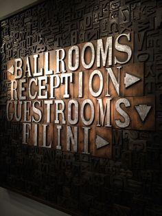 Cool way to label rooms - Radisson Blu Aqua Hotel in Chicago, IL