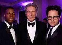 John Boyega and Harrison Ford Briefly Talk The Force Awakens. #starwars