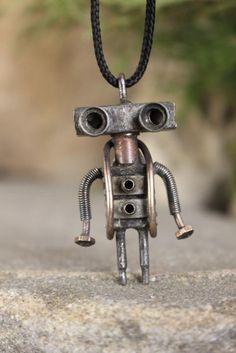 Robot, Cute Alien, Active, Bioshock, Dieselpunk, Funny Gifts, Cyberpunk, Jewelry Art, Pendants