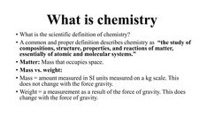 What Is Chemistry, Definitions, Study, The Unit, Studio, Studying, Research