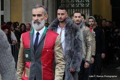 """João F. Ramos Photographer. Moda Lisboa """"Vision"""" Winter 2014/2015. Para Nuno Gama coleção """"Panteão"""" (avesso).  Male model, Lisbon, white beard, Man Fashion, Silver Fox"""