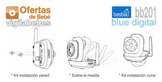 basbau bb201 blue digital vigilabebes instalacion camaras