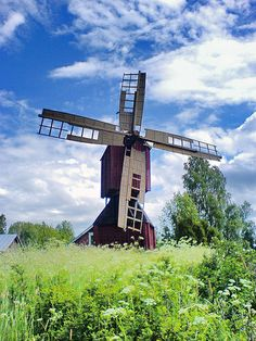 Vaasa, Finland - A different place in every season. How will I ever see them… Finland Destinations, Places Around The World, Around The Worlds, Finland Travel, Wind Mills, Le Moulin, Covered Bridges, Helsinki, Paisajes