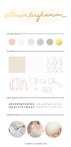 Allisonleighann lifestyle and fashion blog brand board / by Heart & Arrow Design