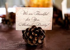 Cute idea for a place holder. #thanksgiving