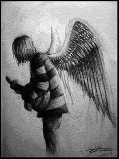 Kurt Cobain..makes a beautiful angel <3
