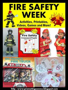 Fire Safety Week Activities: Since 1922, Fire Prevention Week has been observed on the Sunday through Saturday period in which October 9 falls. Have some fun teaching about fire safety with these FREE finger plays and songs
