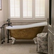 "Acrylic Clawfoot Slipper Tub, 61 inch, ""Delores"""