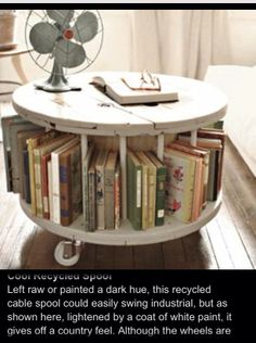 DIY coffee table / bookshelf.