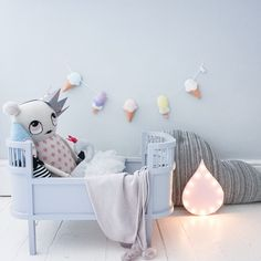 Icecream garland by Velveteen Babies, pastel nursery style.