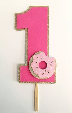 Donut Smash Cake Topper! First Birthday Party Cake Topper- Donut Themed Party- Donut First Birthday
