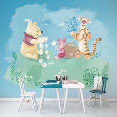 Winnie the Pooh Picnic x Smooth Matt Wall Mural Winnie the Pooh Room Wall Painting, Nursery Paintings, Nursery Wall Art, Nursery Decor, Nursery Ideas, Bedroom Ideas, Disney Baby Rooms, Disney Nursery, Winnie The Pooh Nursery