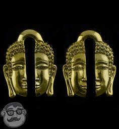 Buddha Brass Ear Weights