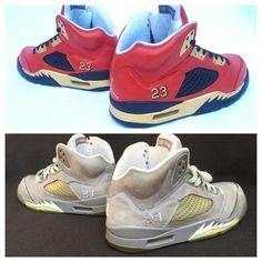 153ca4aa327f47 Custom restore on these Jordan 5s. Order now! Restore