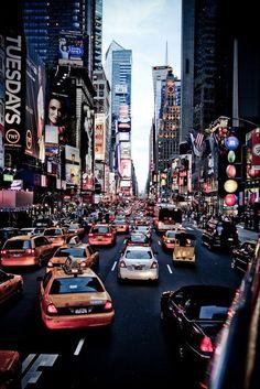 times square new york city beautiful traffic photo