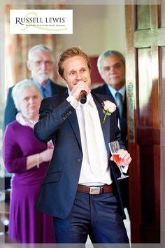 Best man gives speech at Llangoed Hall