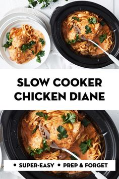 We've made family-favourite chicken Diane even easier by cooking it in the slow cooker - you only need 10 minutes to prepare it! Slow Cooker Casserole, Crock Pot Slow Cooker, Slow Cooker Chicken, Slow Cooker Recipes, Cooking Recipes, Slow Cooking, Chicken Diane Recipe, Chicken Recipes, Healthy Mummy Recipes