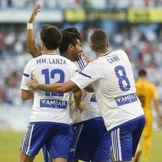 FINAL!! Primera victoria del #RealZaragoza por 3 a 1 contra UCAM Murcia y lideres... #Zaragoza