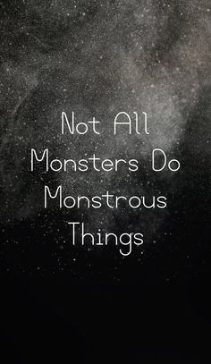Teen Wolf Citations , Not all monsters do monstrous things , wallpaper , background