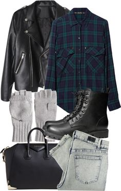 Untitled #1146 by natalie-123s featuring a leather jacket