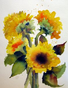 sunflowers, Nel Jansen -- Sunflowers are appealing more and more to me :)